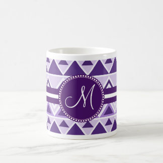 Monogram Aztec Andes Tribal Mountains Triangles Coffee Mug