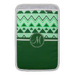 Monogram Aztec Andes Tribal Mountains Triangles MacBook Air Sleeves