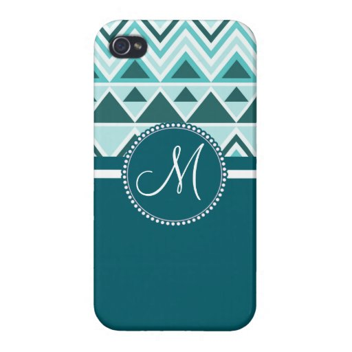 Monogram Aztec Andes Tribal Mountains Triangles iPhone 4 Cover