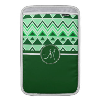 Monogram Aztec Andes Tribal Mountains Triangles MacBook Air Sleeve