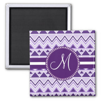 Monogram Aztec Andes Tribal Mountains Triangles Magnet
