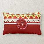 Monogram Aztec Andes Tribal Mountains Triangles Pillow