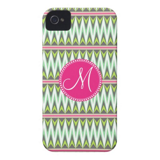 Monogram Aztec Andes Tribal Mountains Zig Zags Case-Mate iPhone 4 Case