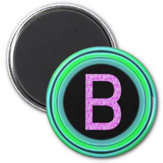 """Monogram """"B"""" 2 Inch Round Magnet"""