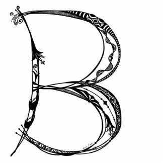Monogram B Art Sculpture Photo Cutout
