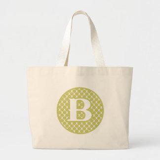 Monogram B Jumbo Tote Bag