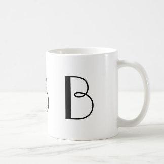 Monogram B Black and White Modern Coffee Mug