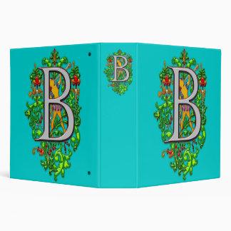 monogram B bugler royal floral art Print Binder