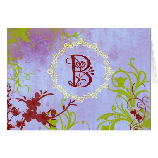 Monogram B Card