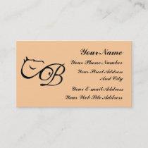 Monogram B  Horse Equestrian Classic Business Card