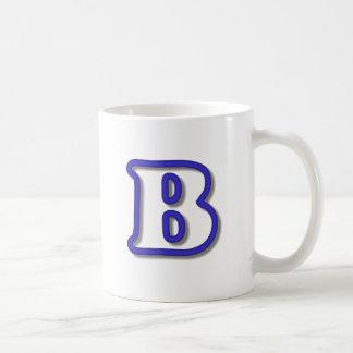 Monogram B in 3D Blue Coffee Mug
