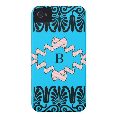 Monogram B iPhone 4/4S Flexible Plastic Shell casemate_case