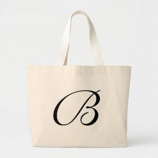 Monogram B Jumbo Tote Bag <White>