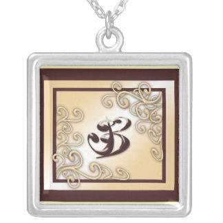 Monogram 'B' Necklace