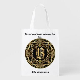 Monogram B Shopping Bag