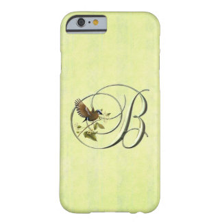 Monogram B Songbird Barely There iPhone 6 Case
