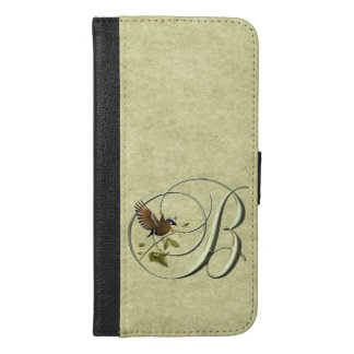 Monogram B Songbird iPhone 6/6s Plus Wallet Case