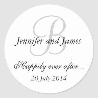 Monogram B Stickers for Wedding Favours
