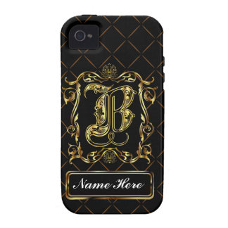 Monogram B Vibe Important View Notes Please iPhone 4 Case