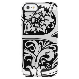 Monogram B Victorian Clear iPhone SE/5/5s Case