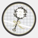 Monogram Baby Invitation or Favor Sticker