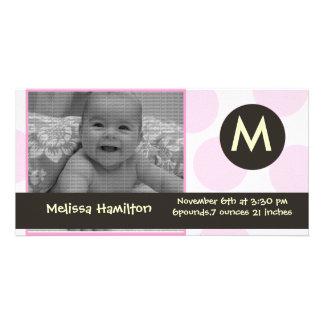 monogram baby  photo card