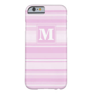 Monogram baby pink stripes barely there iPhone 6 case