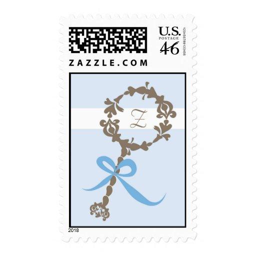 Monogram Baby Rattle Stamp