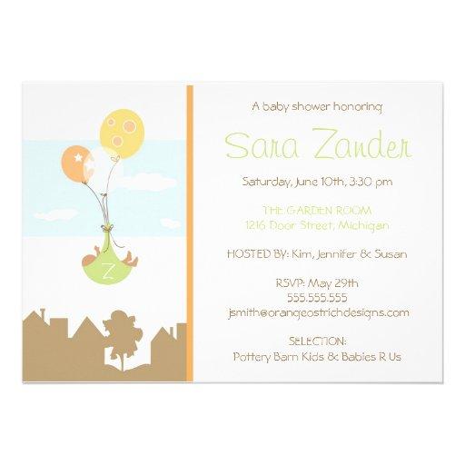 balloon baby shower invitation 5 x 7 invitation card zazzle
