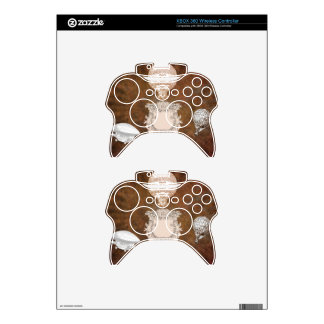 MONOGRAM BALLOONS ON BROWN BACKGROUND XBOX 360 CONTROLLER DECAL