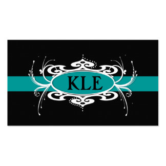 MONOGRAM  BAND BLUE AND BLACK Business Card