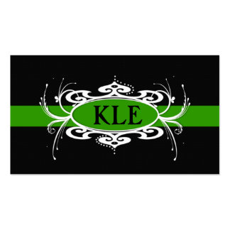 MONOGRAM  BAND GREEN AND BLACK Business Card