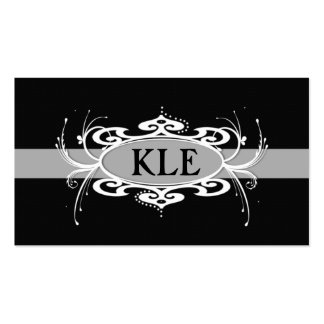 MONOGRAM  BAND GREY AND BLACK Business Card