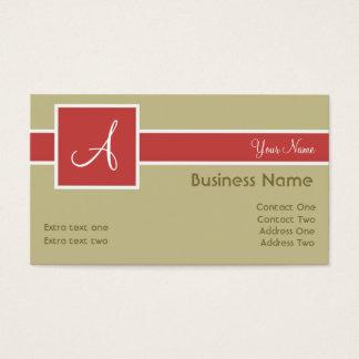 Monogram Band Sand & Salmon Business Cards