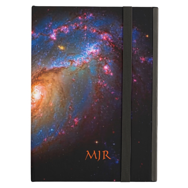 Monogram Barred Spiral Galaxy NGC 1672 iPad Folio Case