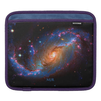 Monogram Barred Spiral Galaxy NGC 1672 Sleeve For iPads