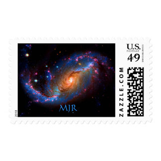 Monogram Barred Spiral Galaxy NGC 1672 Stamps