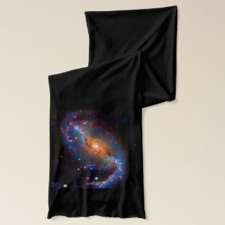 Monogram Barred Spiral Galaxy NGC 1672 Scarf