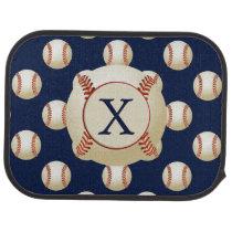 Monogram Baseball Balls Sports pattern Car Floor Mat