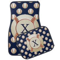 Monogram Baseball Balls Sports pattern Car Mat
