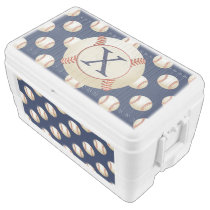 Monogram Baseball Balls Sports pattern Cooler