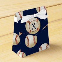 Monogram Baseball Balls Sports pattern Favor Box