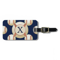 Monogram Baseball Balls Sports pattern Luggage Tag