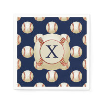 Monogram Baseball Balls Sports pattern Napkin