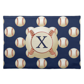 Monogram Baseball Balls Sports pattern Placemat