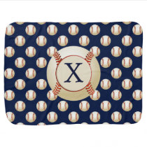 Monogram Baseball Balls Sports pattern Receiving Blanket
