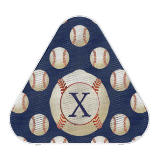 Monogram  Baseball Sports Pattern Speaker