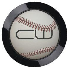 Monogram Baseball Usb Charging Station at Zazzle