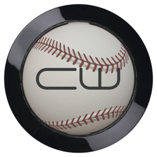 Monogram Baseball USB Charging Station