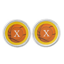 Monogram Basketball Balls Sports pattern Cufflinks